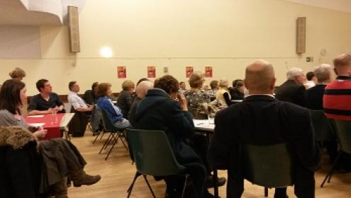 Over 50 people attended the Labour Party NHS meeting