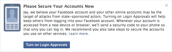 Facebook to notify users if a government-sponsored actor is targeting them