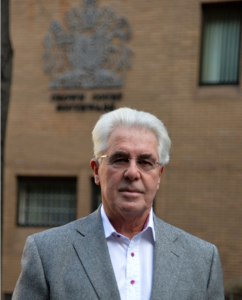 Convicted: Kingston resident and public relations guru Max Clifford, pictured outside Southwark Crown Court Credit: Rex Features