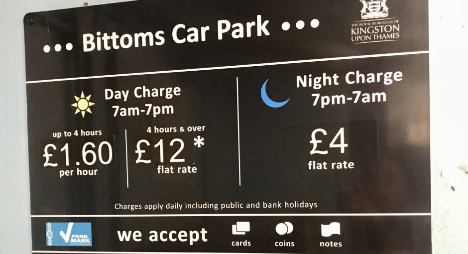 Price Hike at Bittoms Car Park