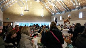 St Mark's Church Hall during a busy market