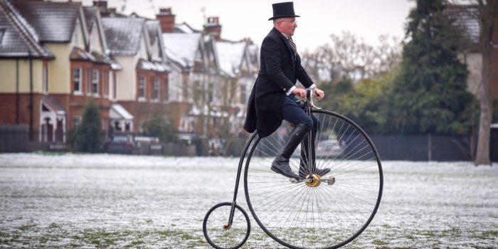 Penny-farthings make their return to Surbiton