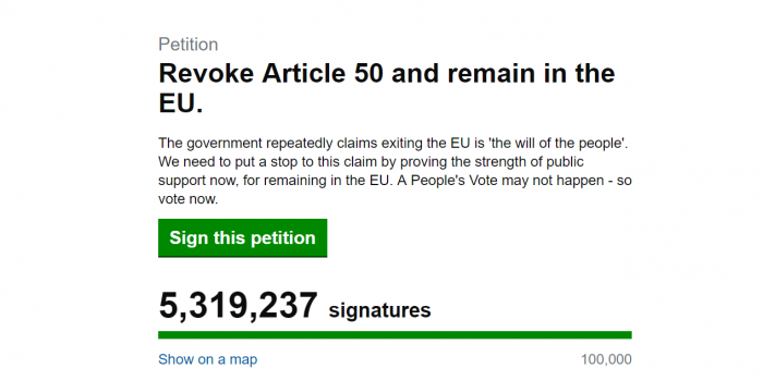 Article 50 petition collects 18,000 Kingston signatures