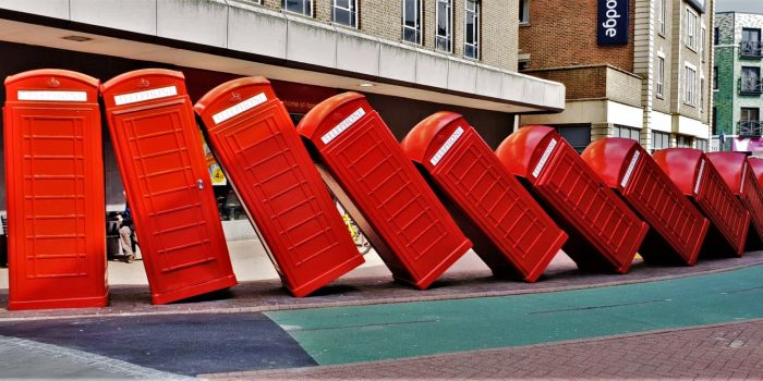 """Out of Order"" telephone box artwork refurbished in Kingston"