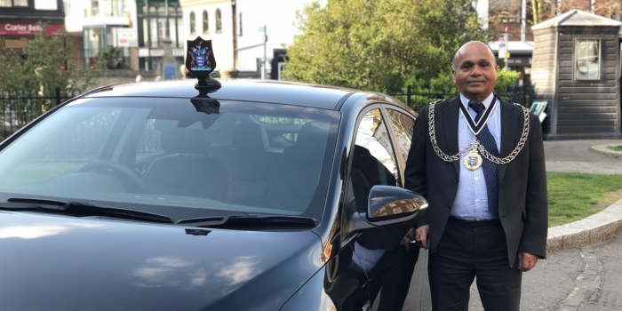 Kingston Mayor Thay Thayalan gets new electric car in a bid to tackle air pollution