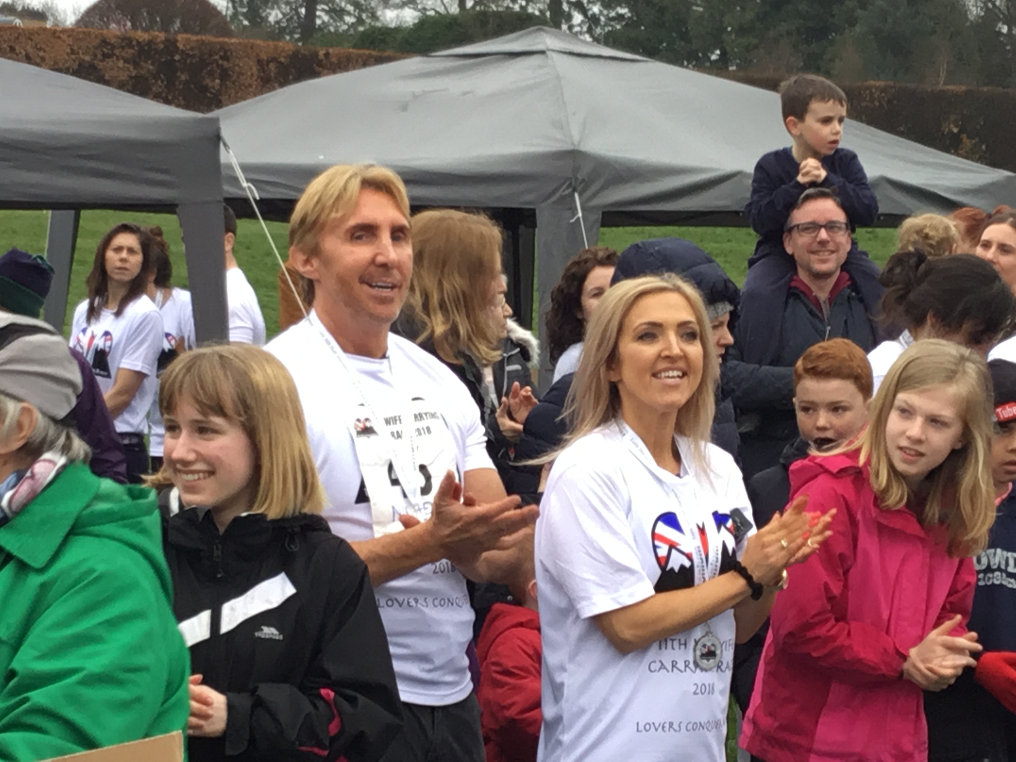 The Speakmans from ITV's 'This Morning' following the race