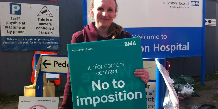 Kingston Hospital junior doctors join first ever all-out strike in history of NHS