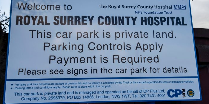 Five NHS Trusts in Surrey found to have increased parking charges during 2017/18 financial year