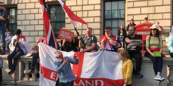 Pro-Leave rallies descend on Parliament Square in angry Brexit demonstration