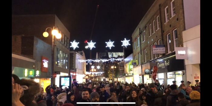 Kingston Christmas lights switched on